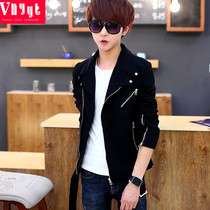 Youth Korean short paragraph windbreaker mens spring and summer personality handsome clothes trendy gown mens thin coat