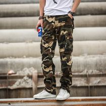 Spring and autumn multi-pocket casual pants mens loose overalls mens trousers straight outdoor mens pants large size camouflage pants