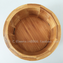 Fried rice bowl monk cuisine Mongolian characteristic wooden bowl natural bamboo with covered wooden bowl Inner Mongolia handicrafts