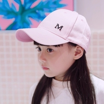 Childrens hats girls baseball cap duck tongue sunscreen summer Big child baby sun girl thin section Korean version of the tide