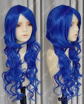 Big Brother female body V Home Sapphire Blue 80cm watermark volume Cos wig