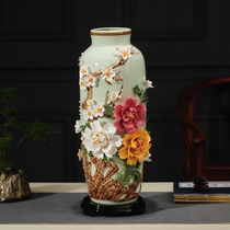 Jingdezhen modern new Chinese ceramic vase handmade porcelain living room TV cabinet porch home decorations decoration