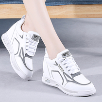 Increased white shoes women 2019 autumn section breathable thick bottom slope with thin wild travel shoes sports casual shoes female