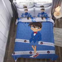 Conan Cotton three sets of cartoon sheets cartoon quilt children bedding four sets of boys student bed Li