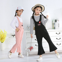 Children's bib pants autumn girl suit little girl Bell pants spring and autumn fashion 2019 new fashion