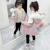 Girls cotton winter clothing 2019 new Korean version of the long section of the Air children's cotton jacket in the child down padded padded thickened