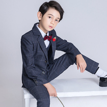 Children's Suit Suit Boy small suit flower girl dress male catwalk costume piano performance British wind handsome