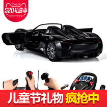 Us to the remote control car Porsche steering wheel charging moving boy childrens toy car high-speed racing sports car model