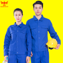 Summer long-sleeved overalls suit male wear-resistant winter workshop factory clothes top custom tooling labor insurance service auto repair welding