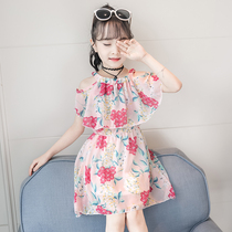 Girls dress summer 2019 New children's summer chiffon children's clothing skirt girl net red ocean princess dress