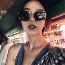 5051a49e51 Zhou Yangqing star with sunglasses female tide 2018 new network red retro  square box sunglasses male