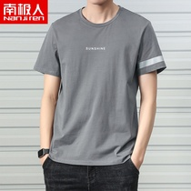 2 pieces)Antarctic mens short-sleeved T-shirt 2019 new trend Tide brand summer half-sleeved shirt on the clothes men C