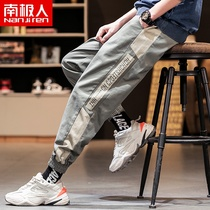 Antarctic 2019 new autumn mens casual trousers Korean sports pants tide Tide brand feet pants male D