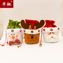 Christmas card gift bag Christmas Old Elk snowman cute pendant gift bag gift bag
