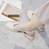 A word Korean version of the summer with 2019 retro Baotou wild new students wind sandals with fairy shoes