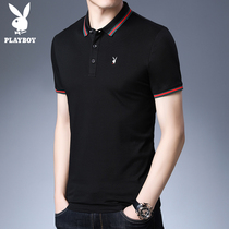 Playboy short-sleeved t-shirt male 2019 summer new clothes men's lapel half-sleeved shirt polo shirt men