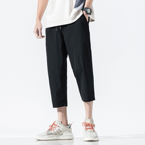Summer mens 7 seven shorts casual sports loose pants 2019 new Japanese trend thin section eight pants
