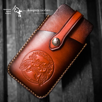 Warehouse Kyrgyzstan handmade mobile phone bag men and women retro casual leather card bag phone bag phone protection card bag phone case
