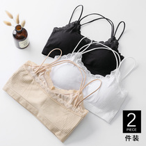 Antarctic tube top strapless bottoming students girls wrapped chest underwear gathered lace suspenders beauty back tube top