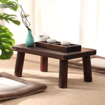 Japanese-style Zen tatami low-foot pit table Home solid wood tea table table mini bay window table small coffee table table