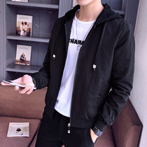 Men's jacket summer 2019 new spring and autumn casual thin jacket Korean version of the trend of wild clothes men