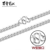 Century-old Baocheng silver necklace womens silver short collar chain Europe and the United States to send his girlfriend silver gift