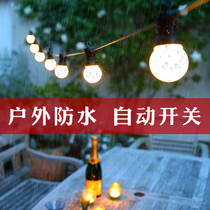 Christmas tree LED outdoor small lantern flashing light string light waterproof hanging light bulb decoration net Red Wedding romance