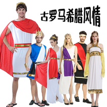 Halloween party costume cos ancient Roman congressman Greek goddess costume male and female adult Zeus samurai dress