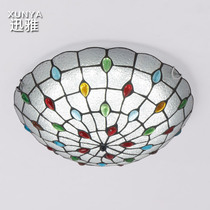 Jane Europe Nordic rural pastoral led Bedroom Ceiling Lamp Mediterranean ceiling lamp Tiffany round master bedroom