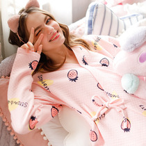 Dream honey autumn and winter kimono air cotton pregnant women nursing pajamas female pregnancy home service postpartum cotton monthly service
