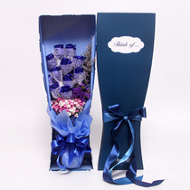 Blue diva Blue National Express rose flowers gift box confession birthday City shop Beijing Shanghai Guangzhou
