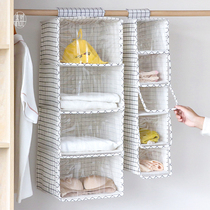 Wardrobe storage artifact multi-layer hanging bag fabric hanging three-dimensional home grid shutter dust bag dormitory