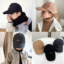 Childrens hat male tide autumn and winter wild cap boys Korean wool warm cap baseball cap baby hat
