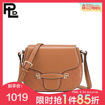 Paul Rand first layer leather shoulder messenger bag 2019 new leather handbags fashion Messenger saddle bag pig bag