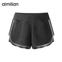 Amy loves to walk light sports shorts womens summer quick-dry yoga fitness pants running loose black casual wear