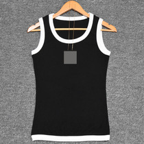 Retro European Point fan 2019 spring and summer New Black and white simple wild primer female cotton camisole
