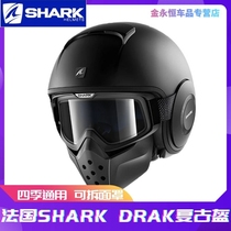 Shark shark motorcycle retro helmet men and women winter anti fog personality ghost motorcycle half helmet four seasons full helmet