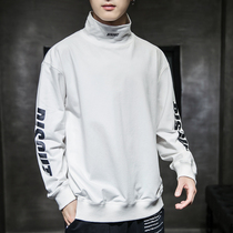Mens high collar sweater 2019 autumn new long-sleeved T-shirt Korean version of the trend of handsome bottoming shirt Tide brand clothes