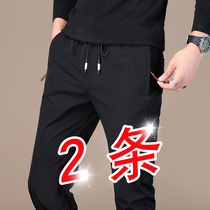 Spring and autumn 2019 New mens casual pants long pants Korean version of the trend of slim feet sports pants loose straight