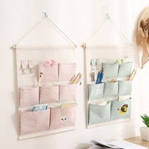 Hanging multi-pocket bathroom wall bedside wall door hanging pocket debris storage bag finishing wardrobe bag storage
