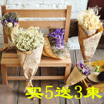Gypsophila dry flower bouquet living room art decoration flower arrangement Yunnan natural dry flower Forget-Me-Not lavender