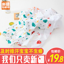 Xinjiang Brother baby jumpsuit short-sleeved cotton men and women baby summer clothing thin section newborn pajamas