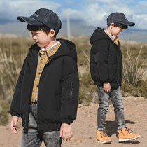 7 children's clothing boys Winter Short Down Jacket 2019 new Big children down jacket boy 13-15 years old Tide