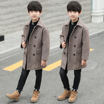 Children's clothes boys autumn and winter clothes woolen coat 2019 new long windbreaker coat children's Korean version of the boy