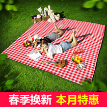 Picnic mat moisture-proof mat outdoor spring tour mat mat thickened portable lawn ins wind picnic net red picnic cloth