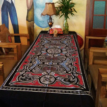 Hand-painted batik ethnic style tablecloth Hotel Inn Restaurant Home background wall stickers bedside wall hanging foreigner gift