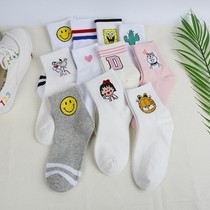In the tube socks socks female ins tide wild autumn Sen female Korean college wind Japanese 5 pairs of socks female Winter Japanese