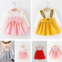 Liu Bin female baby spring girl autumn and winter 1 years old ceremony Baby 2 Princess fake girl skirt fashion autumn summer