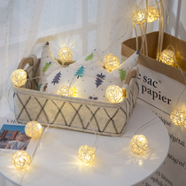 Beijing Dong led rattan ball small lantern flash lamp battery lamp string decoration gypsophila holiday Christmas layout New Year room