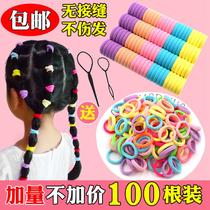 Children hair accessories hair rope baby color seamless elastic hair ring does not hurt the size of the rubber band towel ring head rope